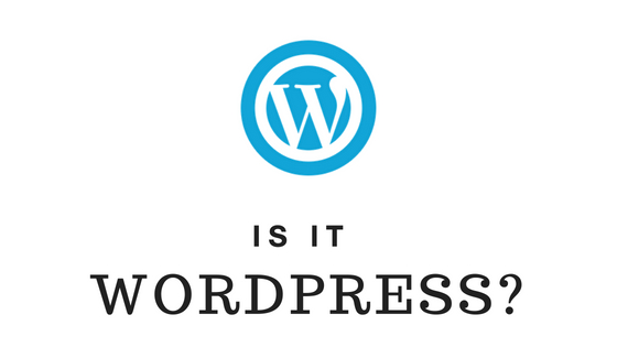 identifying a website using wordpress