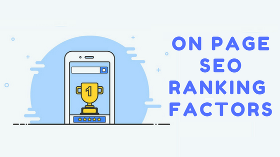 On Page SEO Ranking factor